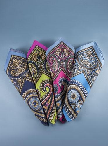 Silk Paisley Pocket Squares