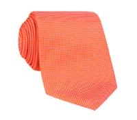 Silk Basketweave Tie in Tangerine