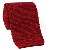Classic Silk Knit Tie in Brick