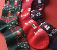 Cashmere Snowman Socks