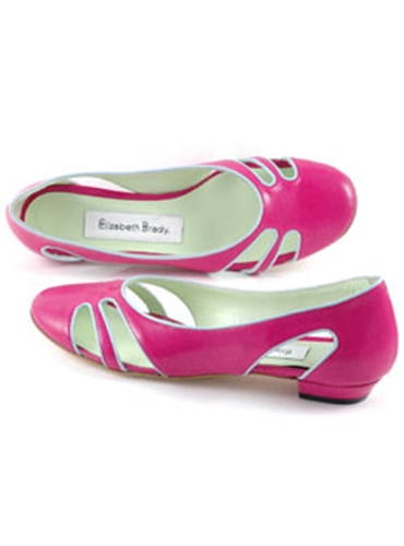 Ladies Fuchsia Cut-Out Flats