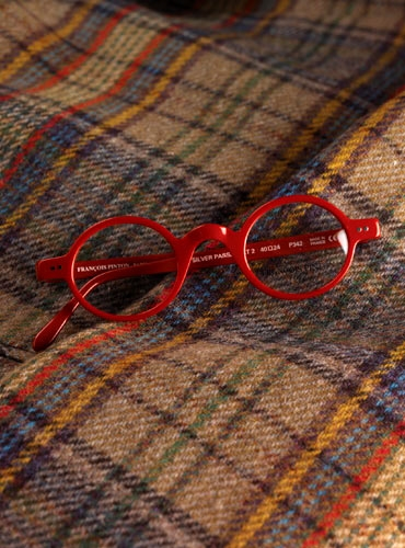 Francois Pinton Archival Round Frame in Red