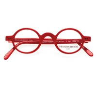 Red Archival Round Frame