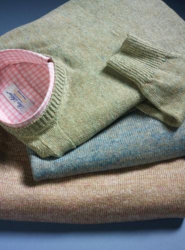 Linen Crewneck Mélange Sweater