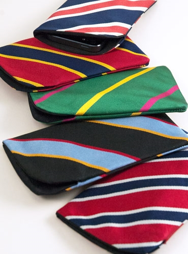 Iphone 4 Case in Regimental Silk Stripes