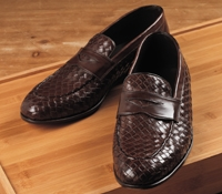 Nettleton Long Vamp Woven Loafer in Brown, Size 42 (US 9)