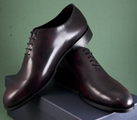 The Nettleton Whole Cut Oxford in Plum Museum Leather