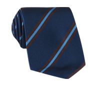 Silk Multi-Stripe Tie in Navy