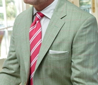 Grass Sport Coat with Azalea and Olive Windowpane