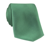 Silk Solid Tie in Leaf