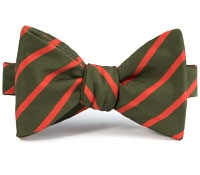 Mogador Bar Stripe Bow in Field