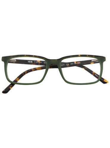 Bold Rectangular Children's Frame in Tortoise and Green