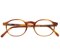 Nearly Oval Frame in Amber