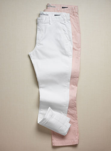 Ladies' Cropped Twill Trousers