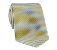 Silk Basketweave Tie in Sun and Cobalt