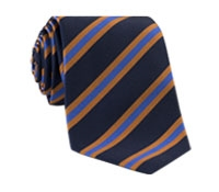Mogador Woven Stripe Tie in Navy and Cornflower