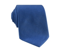 Silk Basketweave Tie in Marine