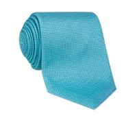 Silk Basketweave Tie in Aqua
