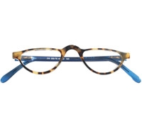 Half-moon Reader in Tortoise and Blue