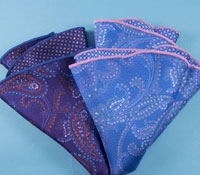 Silk Reversible Paisley Pocket Rounds
