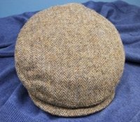 Wool Helmsley Grey Herringbone Cap