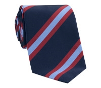 Mogador Silk Stripe Tie in Navy