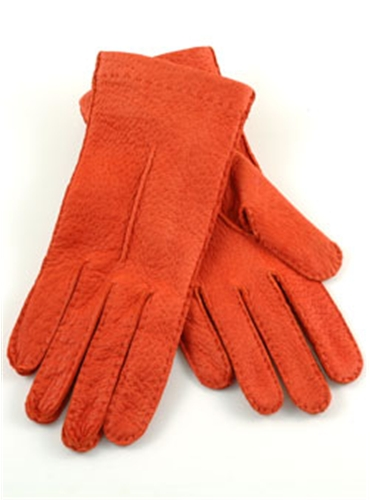 Orange Pecary Unlined Gloves