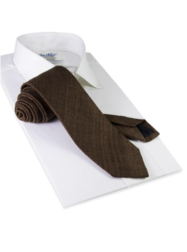 Shantung Silk Solid Tie in Mocha