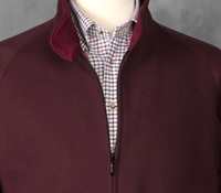 Wool & Cashmere G9 Jacket Burgundy