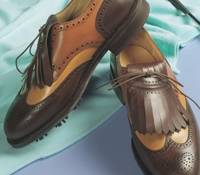 The Nettleton Golf Shoe in Brown and Tan