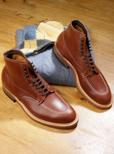Rusty Brown Aniline Leather Boots