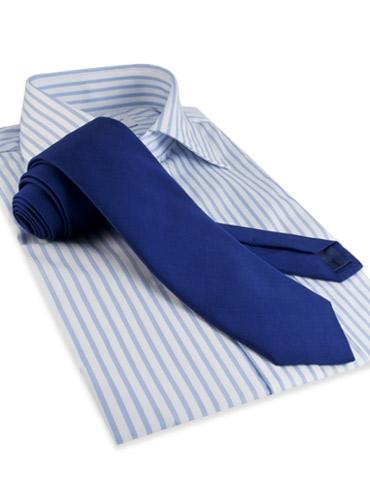 Mogador Silk Solid Signature Tie in Marine