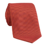 Silk Basketweave Tie in Orange