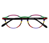 Multi-Colored Handmade Frame in Magenta, Emerald, and Cherry