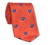Silk Fanciful Crest Tie in Orange
