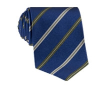 Silk Stripe Tie in Marine