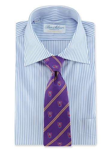 Fanciful Crest Tie in Berry