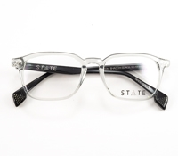 Slim Rectangular Frames in Shadow with Black Temples