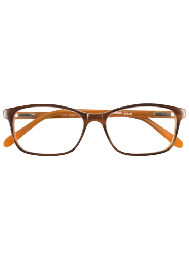 Slim Rectangular Frame in Amber and Orange