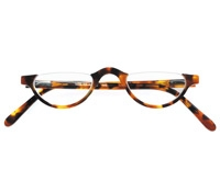 Semi-rimless Half-moon Reader in Tortoise