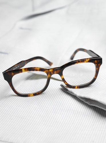 bold rectangular brown tortoise frame