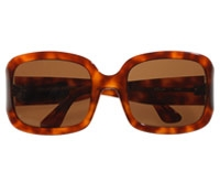 Large Square Sunglass in Amber