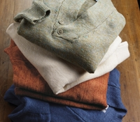 Linen Shawl Collar Sweater