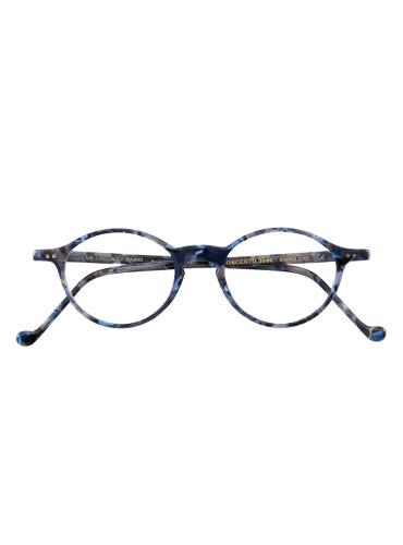 Lafont Slim Oval Frames in Blue Tortoise