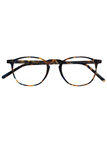Thin Square Frame in Blue Tortoise