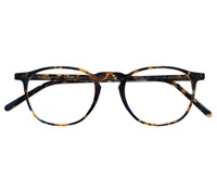Timeless Semi-Square Frame in Blue Tortoise