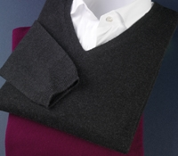 Ladies Cashmere V-neck Sweater