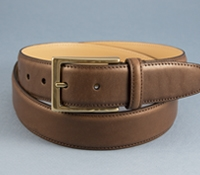 Smooth Leather Belt in Brown