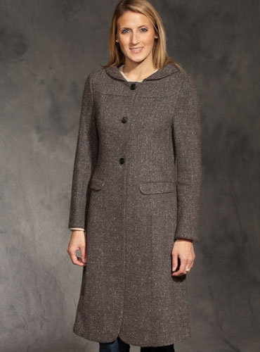 Ladies Brown Wool Coat