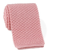 Classic Silk Knit Tie in Pink